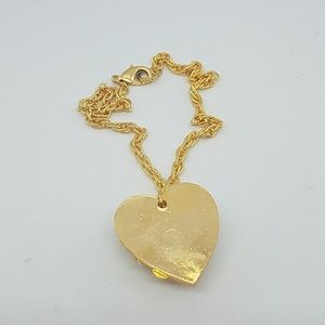 GASOLINE GLAMOUR Jewelry - Gold spike heart necklace gold rope chain new